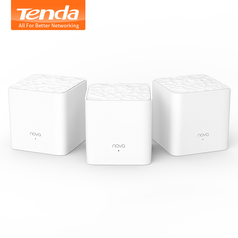 Tenda Nova Mw3 Wireless Wifi Router AC1200 Whole Home Dual Band 2.4Ghz/5.0Ghz Wifi Repeater Mesh WiFi System APP Remote Manage  цена и фото