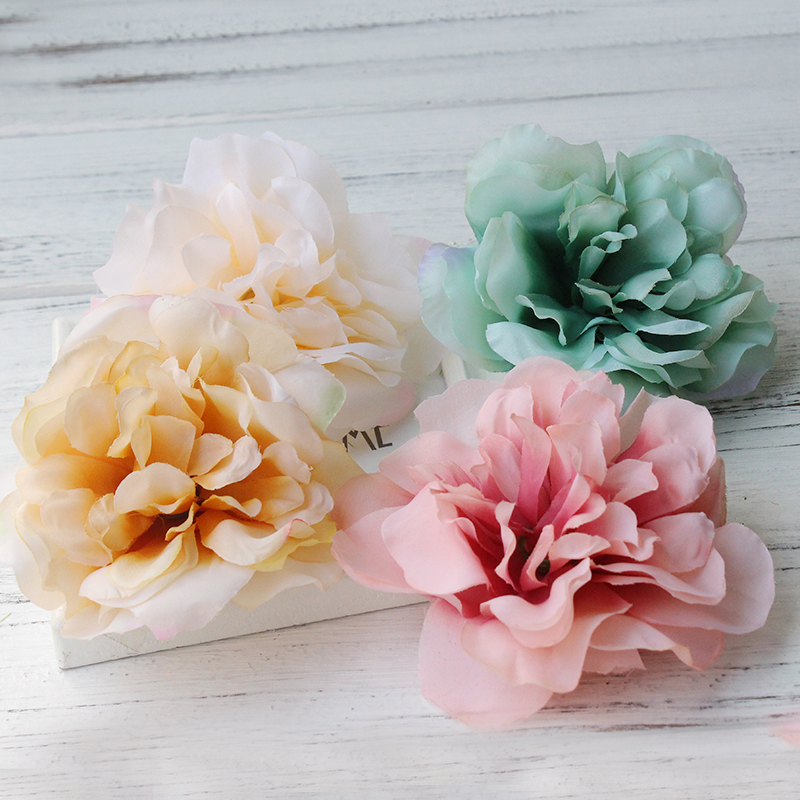 Artificial Flower Hair Clips. Wedding Party Woman Fabric Flower Hair fascinators. Floral Hair Clips Travel festival ornament 2016 trendy fabric blooming peony flower corsage brooch woman hair decorations