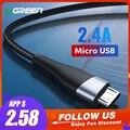 Cable Micro USB de carga rápida Ugreen para Xiaomi Redmi Note 5 Pro 4 Android Cable de datos del cargador del teléfono móvil para Samsung S7 USB cable