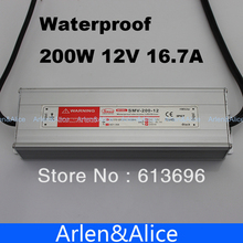 200W 12V 16.7A Waterproof outdoor Single Output Switching power supply for LED light