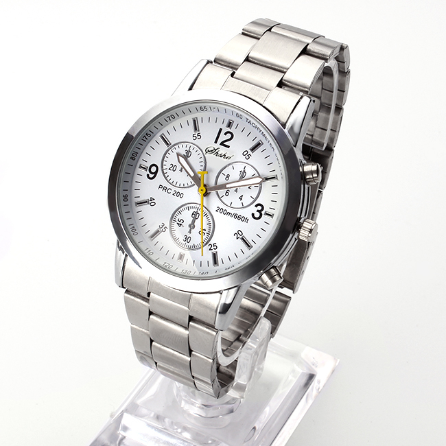 2016 New Famous Brand Men Silver Quartz Watch Women Stainless Steel Watches Relogio Casual Unisex Clock Wristwatch Hot Sale Hour