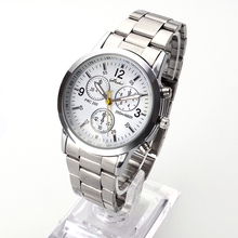 2015 New Famous Brand Men Silver Quartz Watch Women Stainless Steel Watches Relogio Casual Unisex Clock Wristwatch Hot Sale Hour