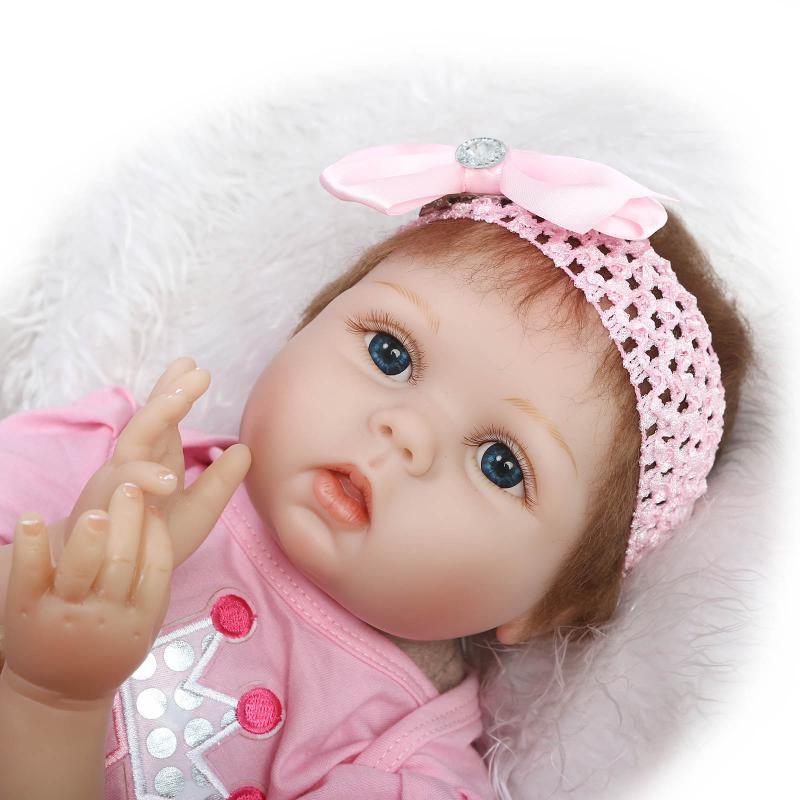цены  22inch Soft Silicone Reborn Baby Doll Toys Realistic Alive Reborn Babies Lifelike Newborn Princess Doll Birthday Gift Brinquedos