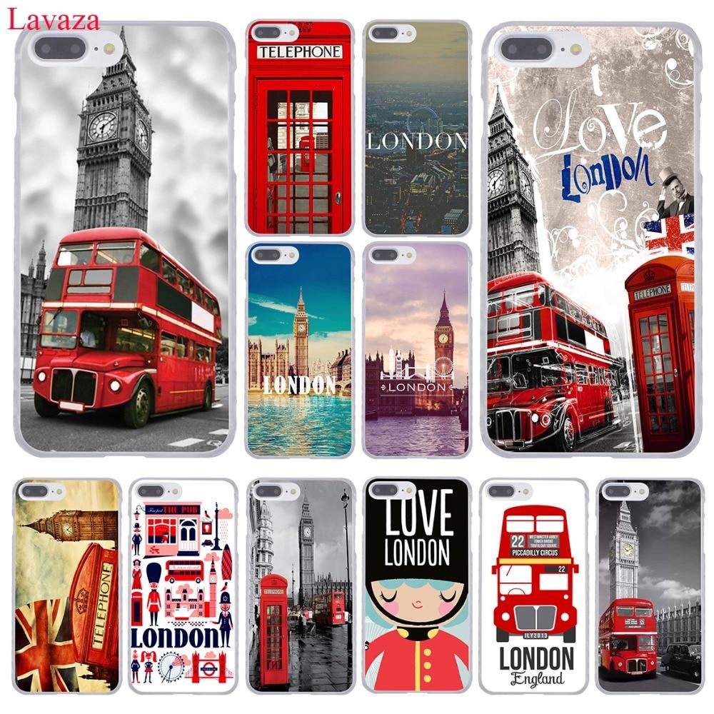 Lavaza London big ben Bus étui pour iphone XR XS X 11 Pro Max 10 7 8 6 6S 5 5S SE 4S 4 couverture