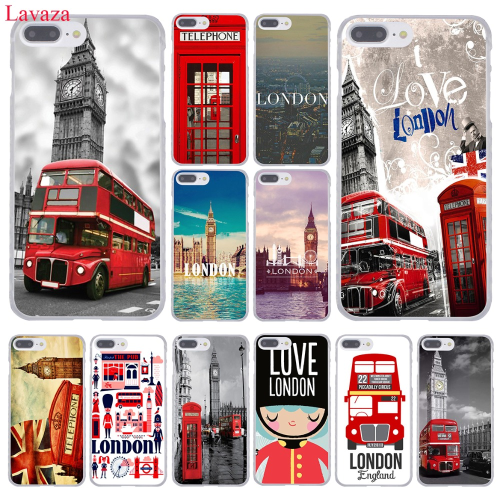 Lavaza London Big Ben Bus Hard Phone Case For Apple Iphone