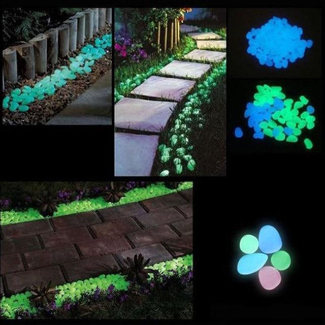 Glowing Garden Stones 100pcspack glow pebbles stone luminous glowing fish tank decoration 100pcspack glow pebbles stone luminous glowing fish tank decoration outdoor garden decor workwithnaturefo
