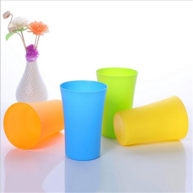 400ML Candy Color Kids Baby Water Cups Bottles Classic Horn Mouth  Children's Feeding Training Cups