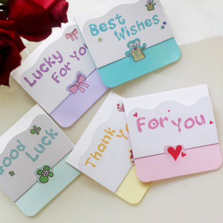 mini letter message card creative mini card with best wishes thank