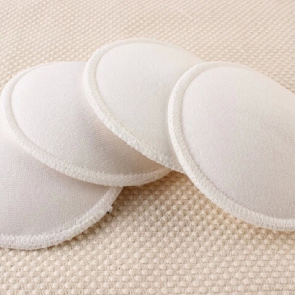 4PCS Breathable Leakproof Infant Feeding Postpartum Mom Washable Bra Breast Pads Reusable Breast Pad