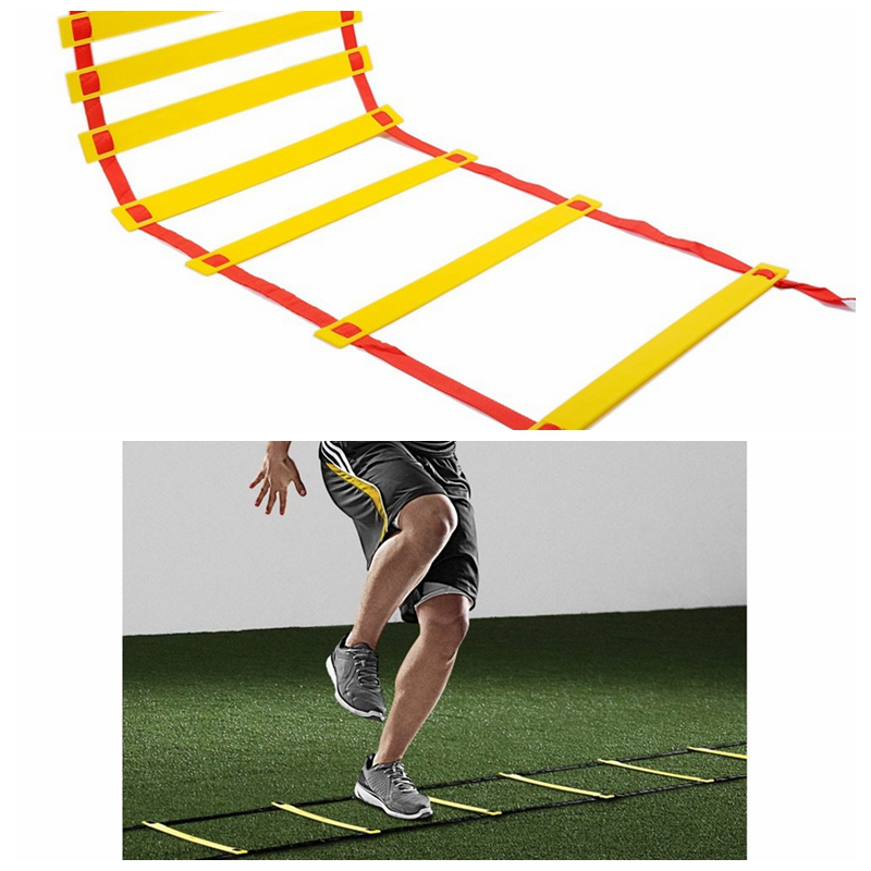 Outdoor Fitness Equipment 30 Feet 10M Agility Agile Training 20 sections Ladder for Soccer Football Feet coordination Training new durable 9 rung 16 5 feet 5m agility ladder for soccer and football speed training with carry bag fitness equipment ea14