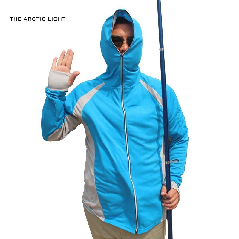 Long sleeve shirt <font><b>uv</b></font> protection quick dry t shirt mens blue climbing hiking fishing clothes men outdoor <font><b>clothing</b></font>