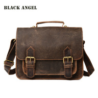 Retro Genuine Leather Men Messenger Bags Casual Men Cowhide Shoulder Briefcase Bag Fashion Men S Leather