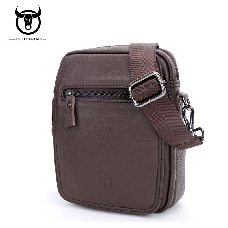 BULL CAPTAIN 2017 MEN'S CLUTCH SMALL FAMOUS BRAND messenger bags MALE SHOULDER BAGS  FASHION GENUINE LEATHER CROSSBODY BAG #015 bull captain 2017 fashion genuine