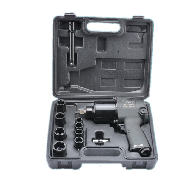 "1/2"" Double Hammers Pneumatic Air Impact Wrench with Socket 2-Hammer for Car Repairing Maintenance Tyre Repair 650Nm Max. Torque"