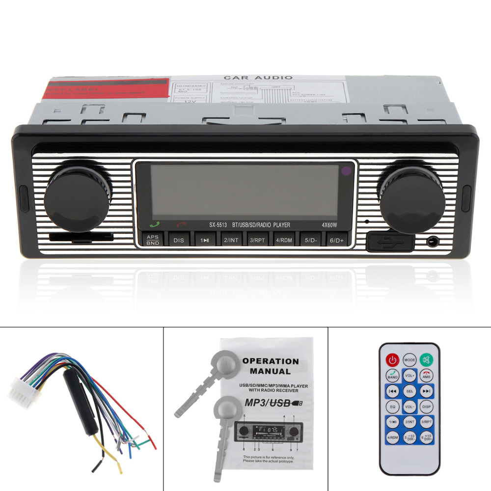 12V Car Radio Player Bluetooth Stereo FM MP3 USB SD AUX Audio Auto Electronics Autoradio 1 DIN oto teypleri radio para carro