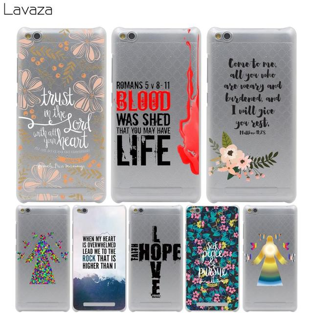 US $2 14 5% OFF|Lavaza Christian Jesus Bible Verse Case for Xiaomi Redmi  Note Mi 4X 4A A1 A2 5 5A 5S 5X 6 MI5 MI6 Pro Plus-in Half-wrapped Case from