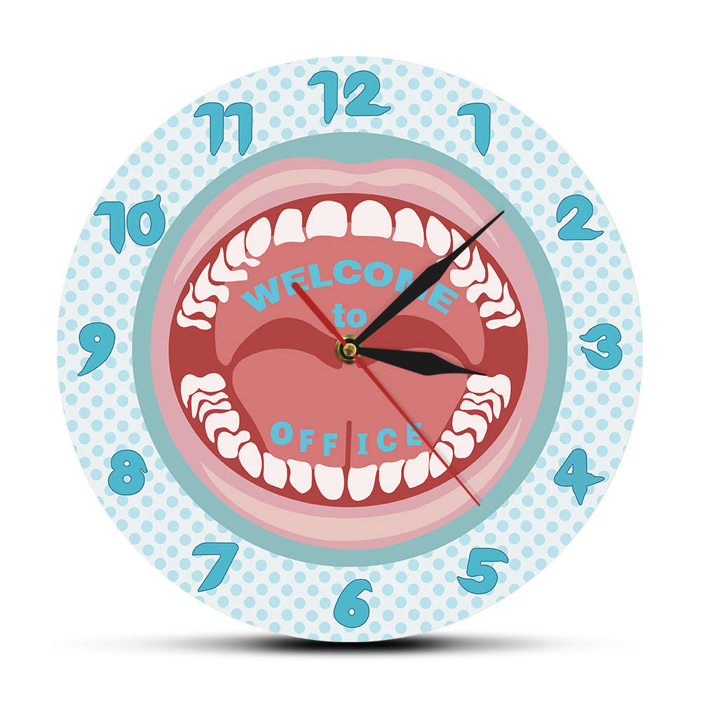 Personalized Your Name Dentist Wall Clock Custom Dentist Name Hygienist Sign Teeth Wall Clock Dental Clinic Dentistry Wall Decor