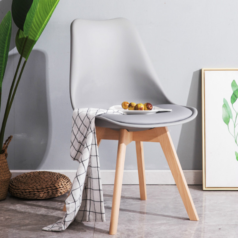 Furniture Café Chairs Simple Dining Chair Fashion Nordic Fabric Solid Wood Dining Chair Coffee Hotel Meeting To Discuss Household Stool High Quality And Inexpensive