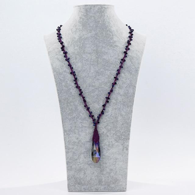 Inkdew модное ожерелье с кристаллами для женщин разноцветное