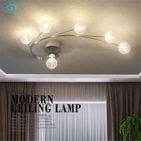 Modern LED Aluminum Wire Glass Luminaria Ceiling Lights Lustres Led Lights For Home Luminarias Para Teto