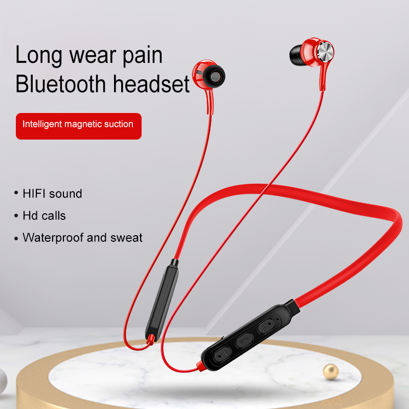 New Wireless Bluetooth Earphone Magnetic Suction HiFi Sound Quality Stereo Headset Waterproof Wireless Sports Earbud with HD Mic image