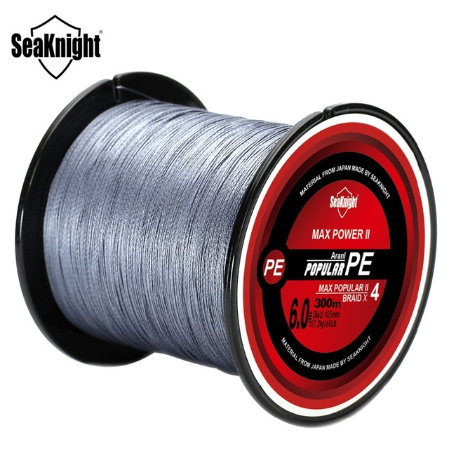 $ US $4.99 SeaKnight Braided Fishing Line 4 Strands 10-60LB Multifilament PE Fishing Line 300M 500M 1000M Carp Fishing Saltwater Freshwater