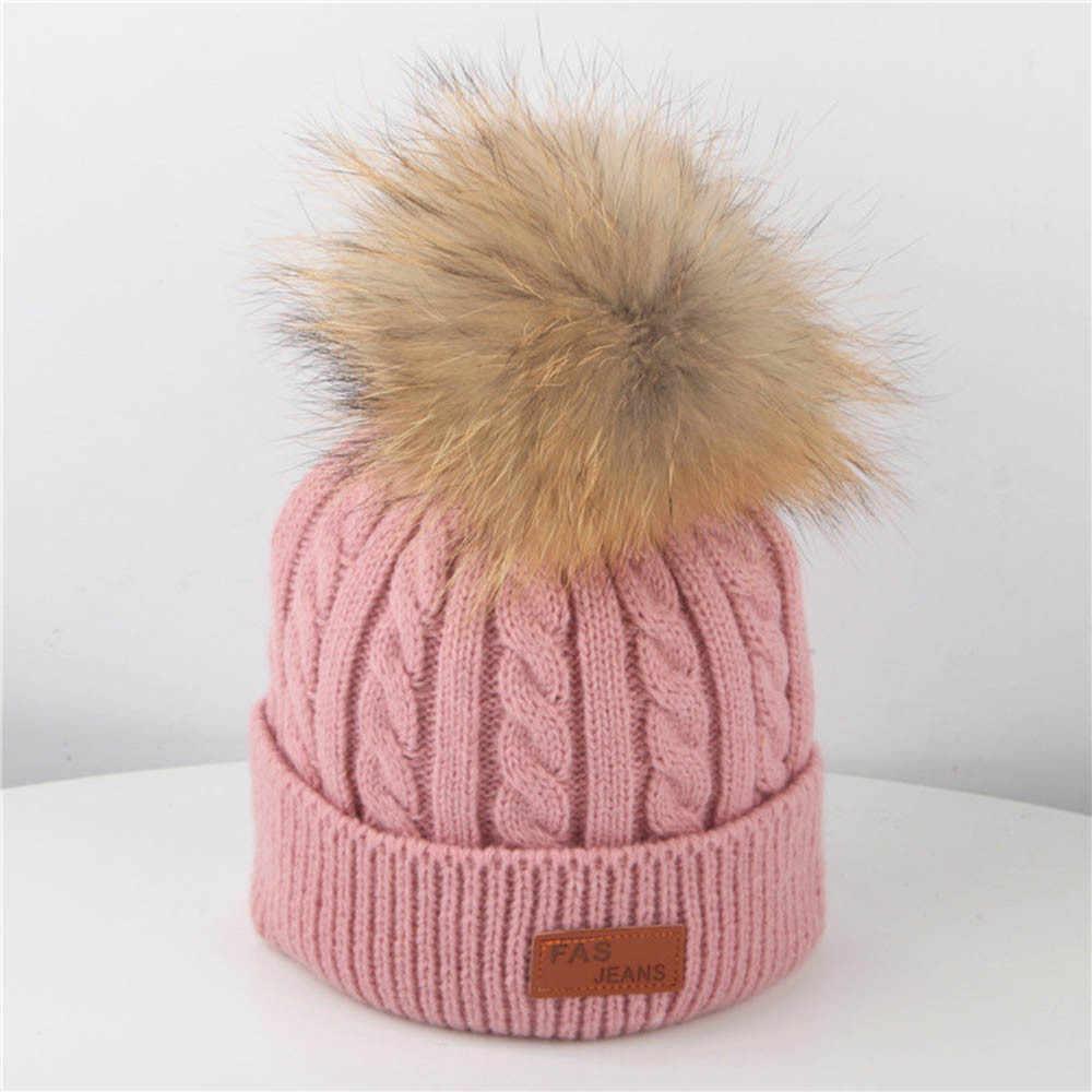 Bayi Hangat Musim Dingin Merajut Crochet Topi Bayi Beanie Topi Anak Balita Faux Pom Pom Merajut Skullies Chapeau Kecil Ete