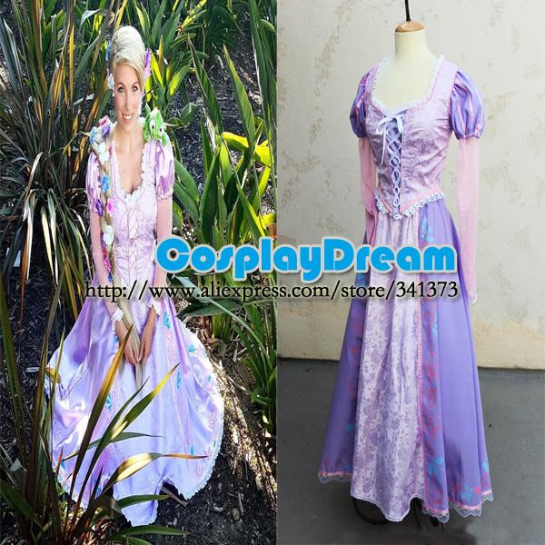 Custom Rapunzel Tangled Princess Costume Cosplay Gown - ORIGINAL CUSTOM MADE, Perfect for Party Princesses!