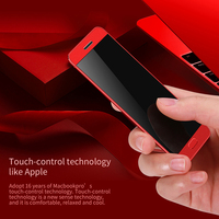 DOITOP Luksusowe Ultra cienki Ekran Dotykowy MP3 MP4 Odtwarzacz Muzyczny Inteligentny telefon Dual SIM Slot Karty Telefon komórkowy FM Radio Bluetooth Dialer