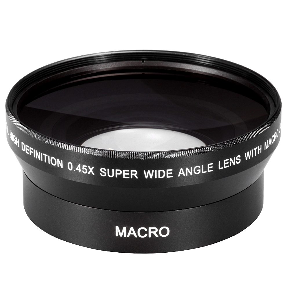 62mm 0.43X Wide Angle Macro Conversion Lens for sony HDR-XR520 VHDR-CX7 HDR-SR5 nikon canon pentax olympus DSLR camera image