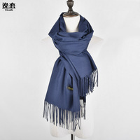 YI LIAN New Fashion Lady Scarves Cashmere Solid Tassel Comfortable And Elegant Lengthened Neckerchief 4Color XP004