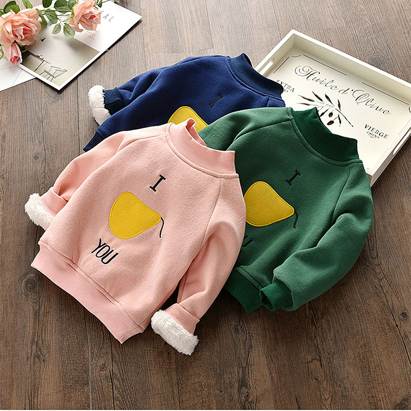0-6 Years Boys Girls Sweater Clothes Children Clothing Baby Kids Cotton Plush Thickening Pullover Sweater Mobile Phone Straps