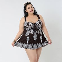 10XL Super big SIZE Tankini Plus Size Swimwear Women Fat Dress Large Sizes Swimsuit Skirt 5xl 6xl 7xl 8xl 2Pieces Bath Suit(China)
