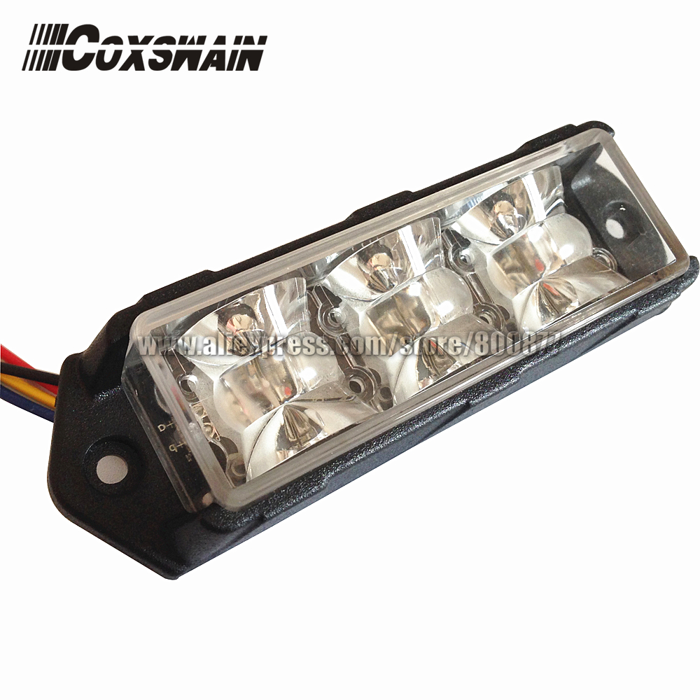 Luz estroboscópica de montaje en superficie de parrilla LED para automóvil de DUAL COLOR, 6 * 3W cada LED, luz de advertencia estroboscópica LED Baliza de tráfico de camiones (VS-938D)