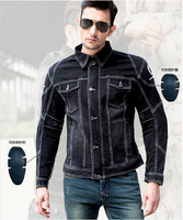 The newest UglyBROS UBJ04 motorcycle jacket Nostalgic retro Harley riding a crane black denim garment Sweethearts outfit