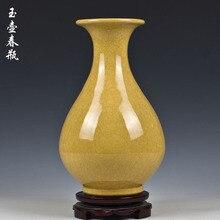 Jingdezhen ceramic vase kiln crack glaze open piece of jun porcelain okho spring Ceramic furnishing articles