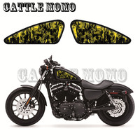 Motorcycle Skull Flame Decal Fuel Tank Decals Stickers For Sportster 48 72 XR1200 XR1200X Fuel Tank Decals spray-painting