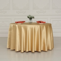 Double Satin Gold Rectangle Round Square Hotel Tablecloths Is Round Wedding Banquet Tablecloth Round Tablecloths