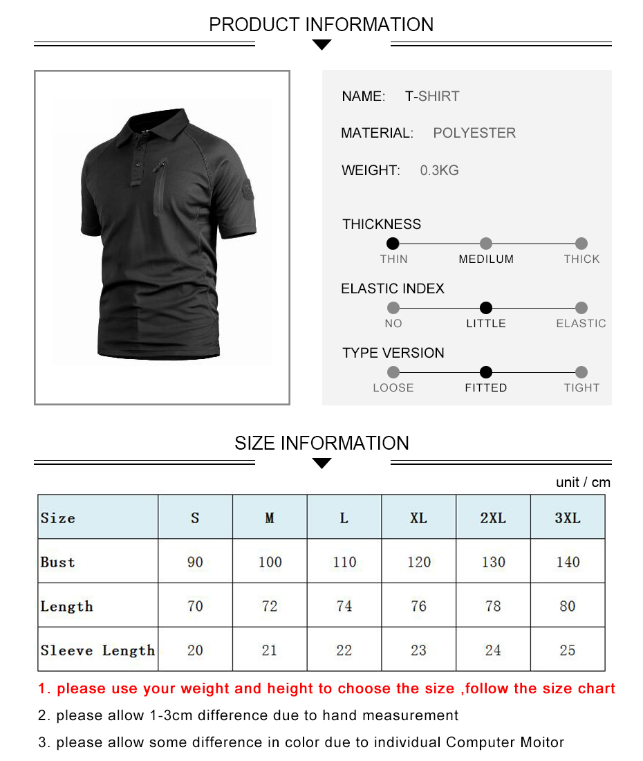 Details of Tactical Polo Quick Dry Shirts