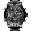 Hombres Reloj Marca AMST Pantalla Dual Masculina Reloj Militar 50 M Impermeable Moda Casual Cronógrafo Reloj Deportivo Negro