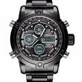 Men Watch AMST Бренд Двойной Дисплей Часы Мужчины Смотреть Спортивные Черные Военные 50 М Водонепроницаемый Мода Повседневная Хронограф