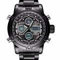 Men Watch AMST Brand Dual Display Watch Male Watch Sports Black Military 50M Waterproof Fashion Casual Chronograph