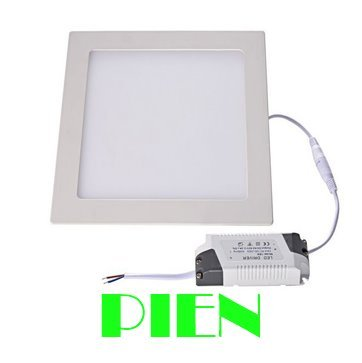 Ultra thin design 3W/4W/6W/9W/12W/15W/18W LED ceiling recessed grid down light slim square panel lamp Free shipping 1pcs