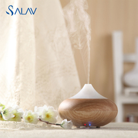 SALAV Ultrasonic Humidifier Aroma Diffuser Electric LED Light Changing Color Essential Oil Aromatherapy Mist Maker Refresh