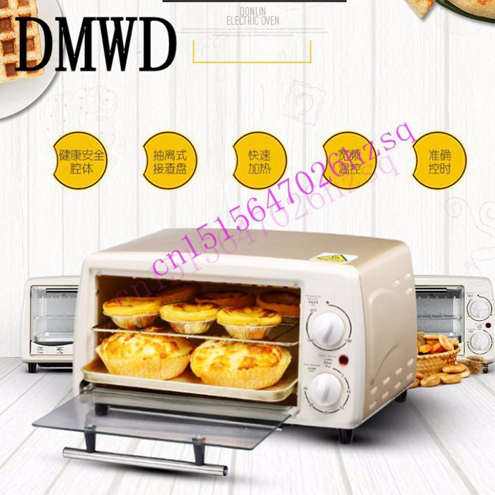 DMWD Multi-function electric oven bake home small oven temperature control mini cake oven enamel interior electric oven home baking 38l large capacity multi functional intelligent temperature control easily cleaning