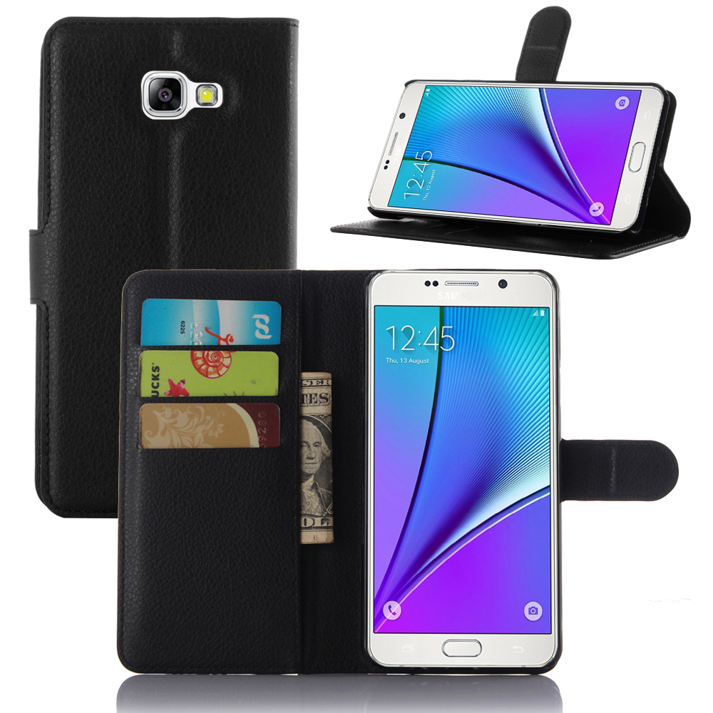 info for 18e87 7454e US $4.25 |New 2016 For Samsung Galaxy A7 (2016) A710 case cover PU Lychee  luxury flip leather wallet stand phone cases cover-in Wallet Cases from ...