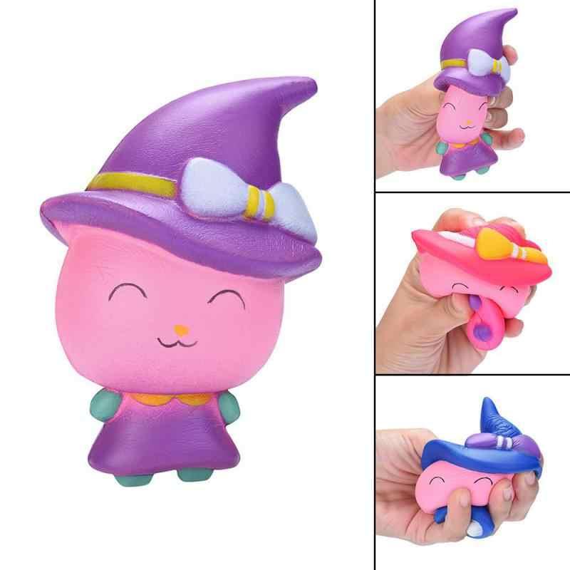2019 каваи мультфильм милый ведьма Magic Girl Squeeze Toy замедлить рост крем Ароматические снятие стресса игрушка scuishies мягкими пакет F1