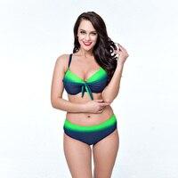 2017 Women Push Up Bikinis Set Brazilian Plus Size Newest Sexy High Waist Swimwear Green Bathing