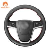 MEWANT Black Artificial Leather Steering Wheel Cover for Opel Mokka 2013 2016 Opel Insignia 2009 2013 Astra J 2010 2015 Meriva
