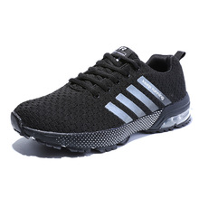 Fall new air cushion sports men's shoes large size couple running shoes light flying line Sports shoes